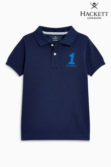 Hackett Navy Short Sleeve New Class Polo
