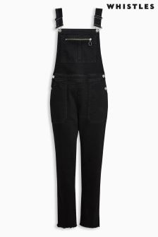 Whistles Black Dungaree