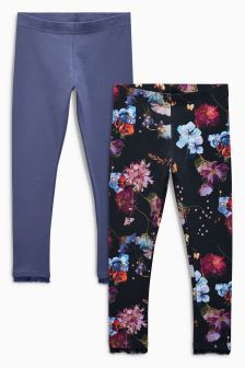 Printed Leggings Two Pack (3-16yrs)