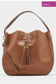 Joules Chestnut Beau Leather Shoulder Bag