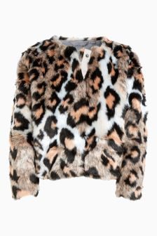 Faux Fur Jacket (3-16yrs)