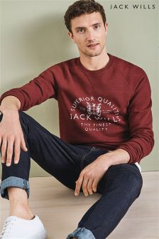 Jack Wills Red Blackwell Crew Sweatshirt