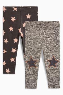 Star Leggings Two Pack (3mths-5yrs)