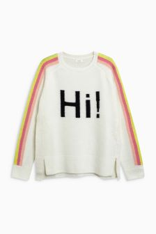 Cosy Slogan Sweater (3-16yrs)
