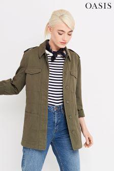 Oasis Green Kate Utility Jacket