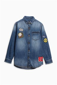 Long Sleeve Badge Shirt (3-16yrs)