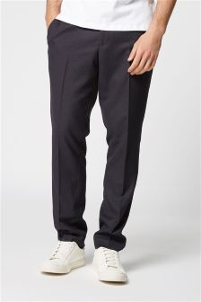 Textured Suit: Elasticated Waistband Trousers