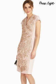 Phase Eight Pink Laurie Embroidered Dress