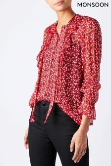 Monsoon Red Polly Print Shirt