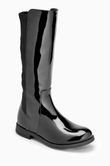 Tall Patent Boots (Older Girls)
