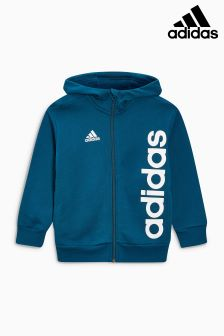 adidas Little Kids Navy Linear Zip Hoody