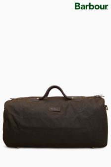 Barbour® Olive Wax Holdall