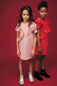 Frill Ponte Dress (3-16yrs)
