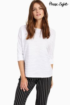 Phase Eight White Wendy Wave Texture Top