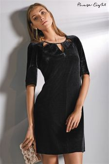 Phase Eight Black Zoe Velvet Cutwork Dress