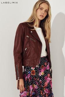 Mix/Lab Leather Biker Jacket