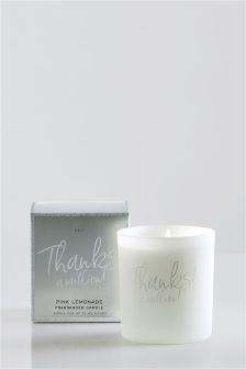 Thanks A Million Pink Lemonade Fragranced Candle