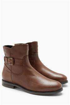 Leather Water Resistant Ankle Boots