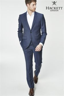 Hackett Navy Prince Of Wales Check Suit