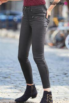 Superdry Black Coated Jean