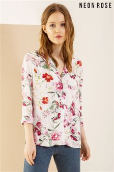 Neon Rose Multi Harper Floral Shirt