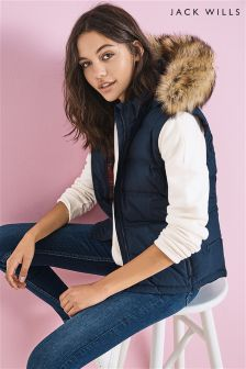 Jack Wills Navy Amhem Core Gilet