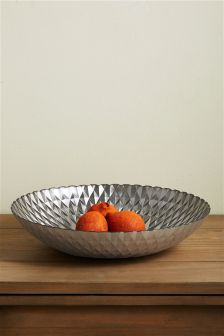 Faceted Glass Bowl