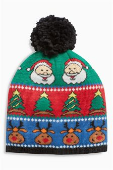 Christmas Pom Pom Hat (Older Boys)