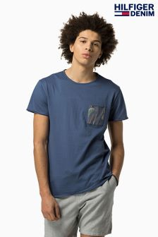 Hilfiger Denim Blue Print Pocket T-Shirt
