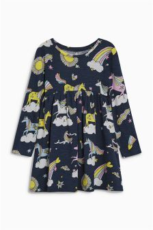 Long Sleeve Jersey Dress (3mths-6yrs)