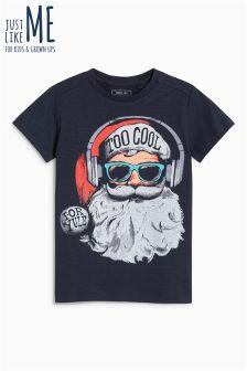 Boys Santa Too Cool T-Shirt (3-16yrs)