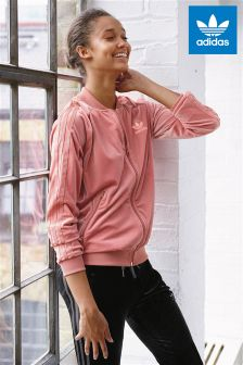 adidas Originals Pink Velvet Track Top