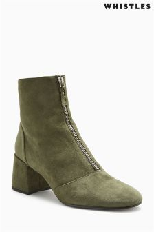 Whistles Khaki Rowan Ankle Boot