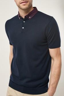 Woven Collar Polo
