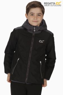 Regatta Black/Sealgr Volcanics Waterproof Shell Jacket