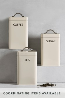 Set Of 3 Metal Storage Tins