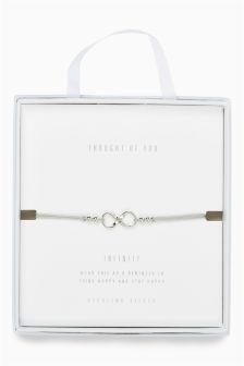 Infinity Charm Cord Bracelet
