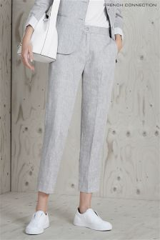 French Connection Grey Summer Linen Trouser