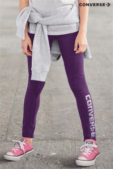 Converse Purple Logo Zip Legging