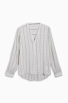 Grandad Stripe Blouse