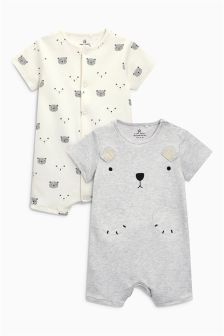 Bear Rompers Two Pack (0mths-2yrs)