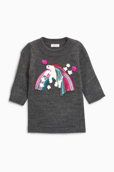 Unicorn Jumper Dress (3mths-6yrs)