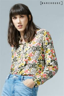 Warehouse Cream Garden Posy Shirt