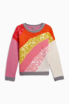 Rainbow Sequin Sweater (3-16yrs)