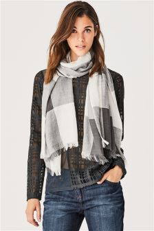 Textured Mesh Scarf Layer Top