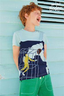 Boden Blue Underwater Logo T-Shirt