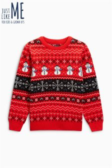 Boys Christmas Snowman Sweater (3-16yrs)