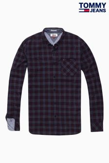 Tommy Hilfiger Denim Red Flecked Check Shirt