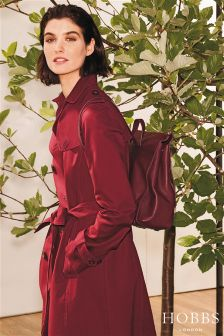 Hobbs Red Saskia Trench