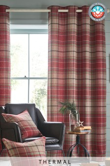 Morcott Woven Check Thermal Curtains